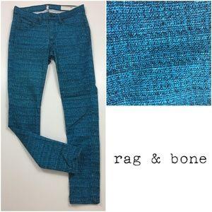 RAG & BONE Legging Black Turquoise Skinny Jeans